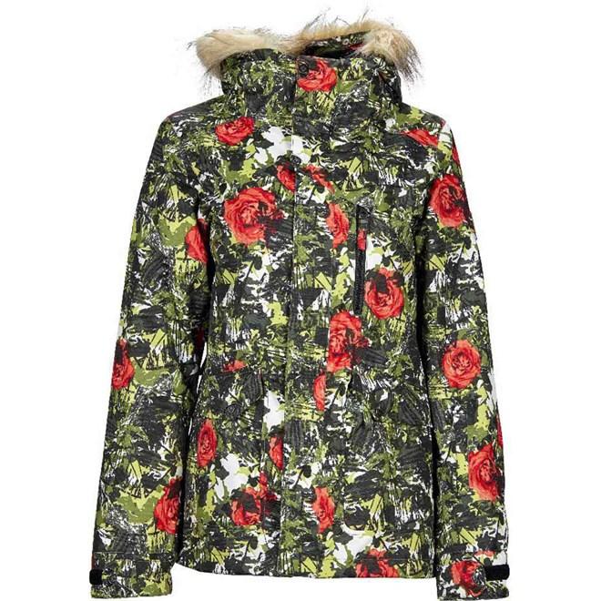 bunda NIKITA - Hawthorn Print Jacket Camo Pop (CMP)