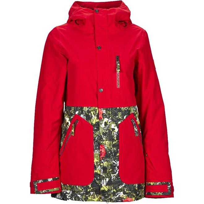 bunda NIKITA - Sycamore Jacket Marachino Cherry- Camo Pop (MAC)