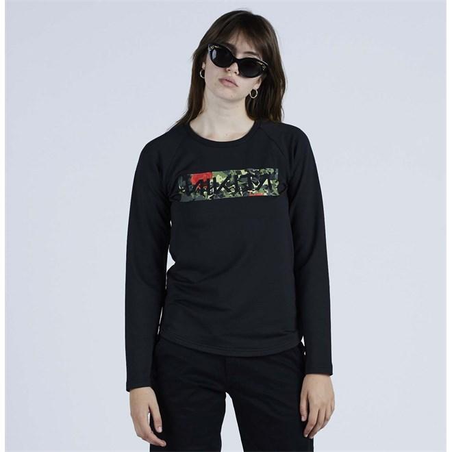 T-Shirt NIKITA - Chromatic L-S Tee Black (BLK)
