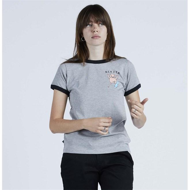 triko NIKITA - Harmonic Ss Tee Athletic Heather - Black (AGH)