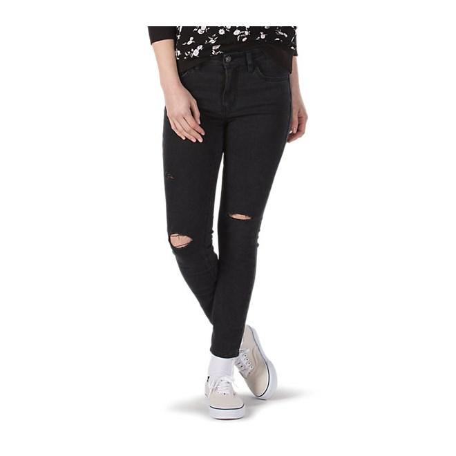 kalhoty VANS - Skinny 9 Black Fade (2QL)