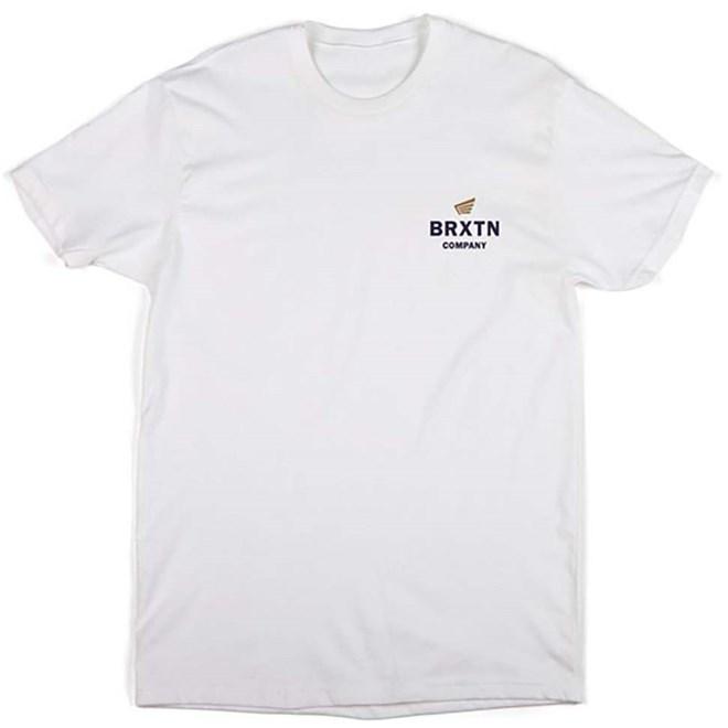 triko BRIXTON - Peabody S/S Stnd Tee White (WHITE)