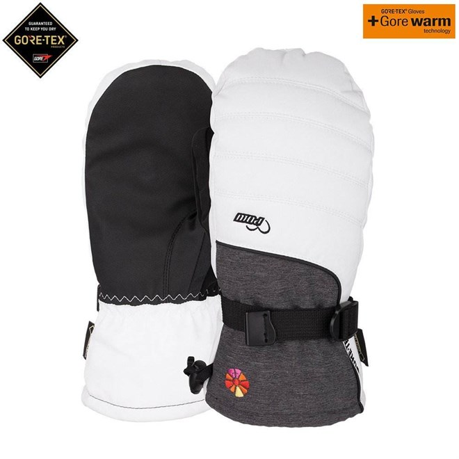 rukavice POW - Ws Falon GTX Mitt +WARM White (B4BC) (Short) (WH)