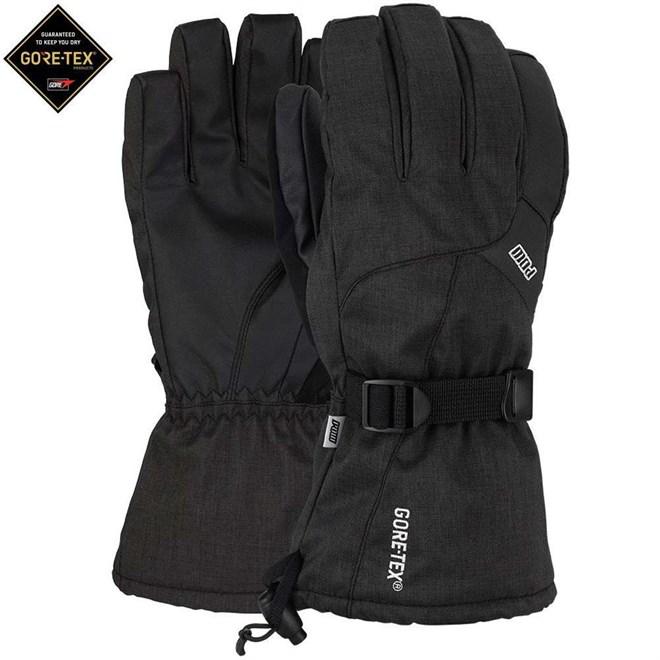 rukavice POW - Warner GTX Long Glove Black (Short) (BK)