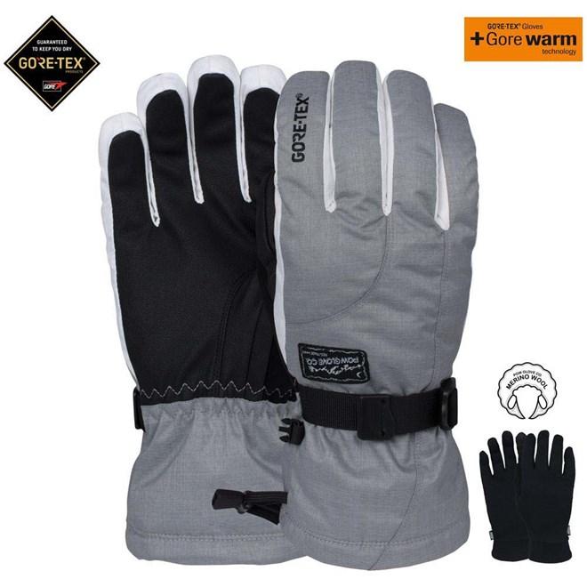 rukavice POW - Ws Crescent Gtx Long Glove Ash (AS)