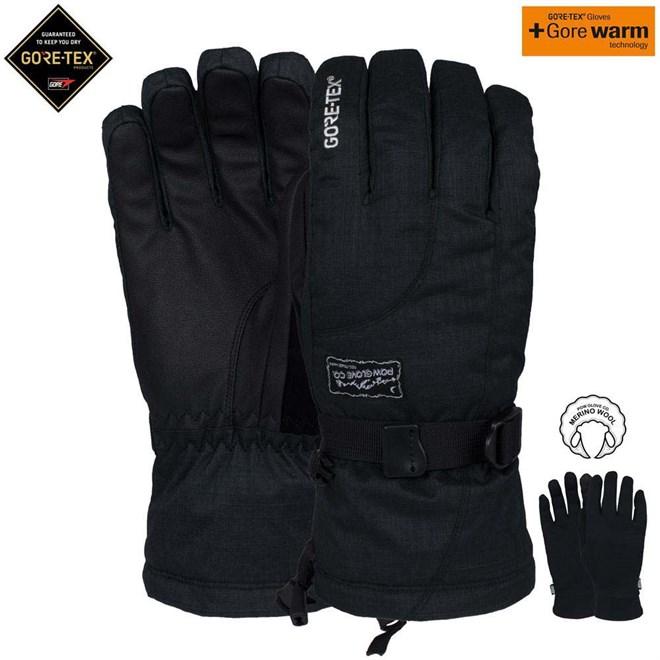 rukavice POW - Ws Crescent Gtx Long Glove Black (BK)