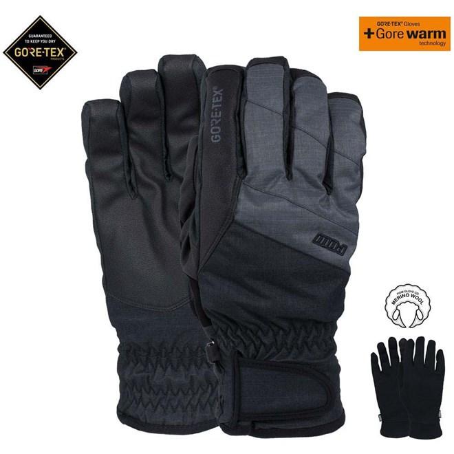 rukavice POW - Warner Gtx Short Glove Charcoal (CH)