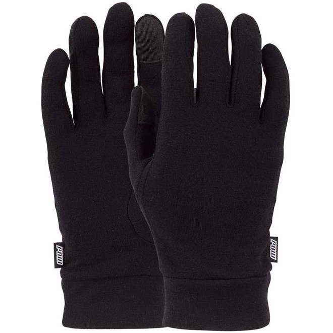 rukavice POW - Ws Merino Liner Black (BK)