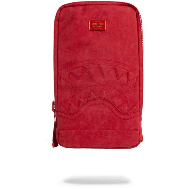 batoh SPRAYGROUND - Red Seuede Shark Smartpack (MULTI)