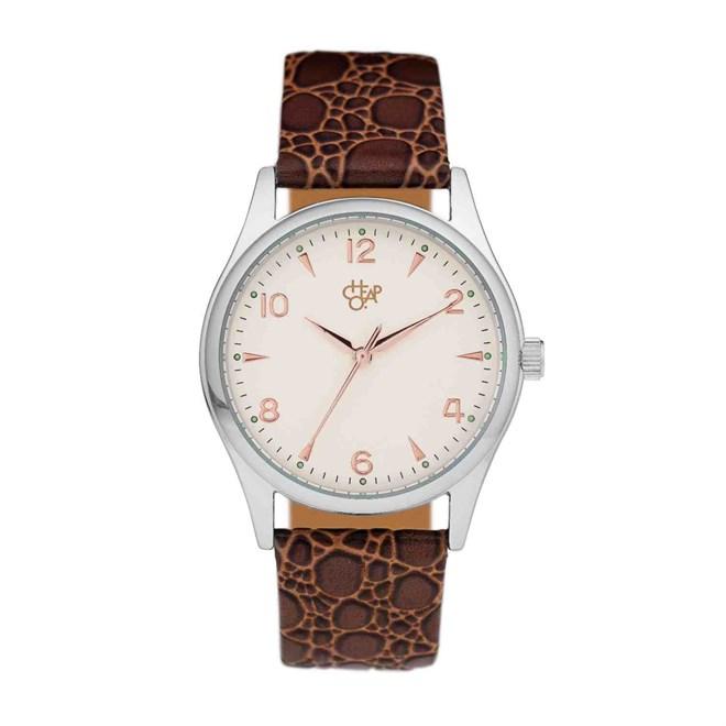 hodinky CHPO - Rodger Silver Silver/Brown (SILVER/BROWN)