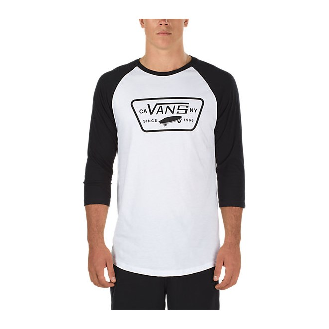 triko VANS - Full Patch Raglan White/Black (YB2)
