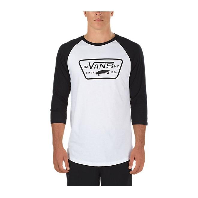 triko VANS - Full Patch Raglan White/Black (YB2)