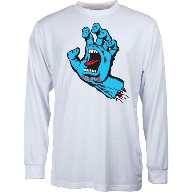 triko SANTA CRUZ - Screaming Hand White (WHITE)