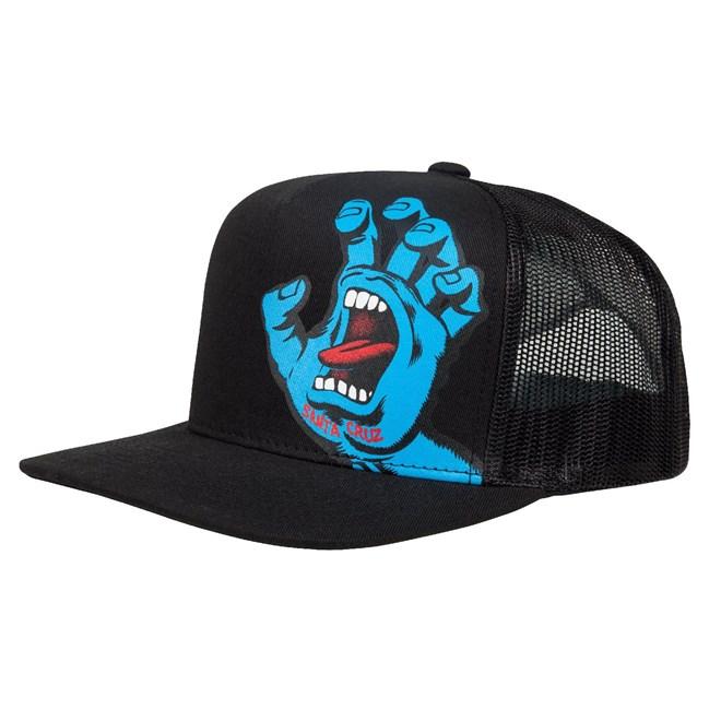 kšiltovka SANTA CRUZ - Youth Screaming Hand Cap Black (BLACK)