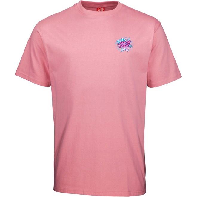 triko SANTA CRUZ - Crystal Hand T-Shirt Rose Pink (ROSE PINK)