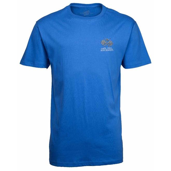 triko SANTA CRUZ - Jessee V8 Tee Strong Blue (STRONG BLUE)