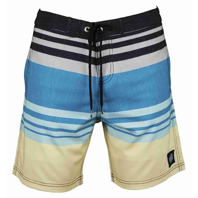 plavky SANTA CRUZ - Shoreline Boardie Blue Stripe (BLUE STRIPE)
