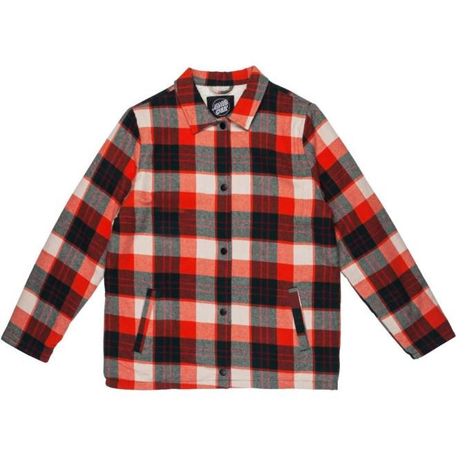 bunda SANTA CRUZ - Retreat Jacket Red Plaid (RED PLAID)