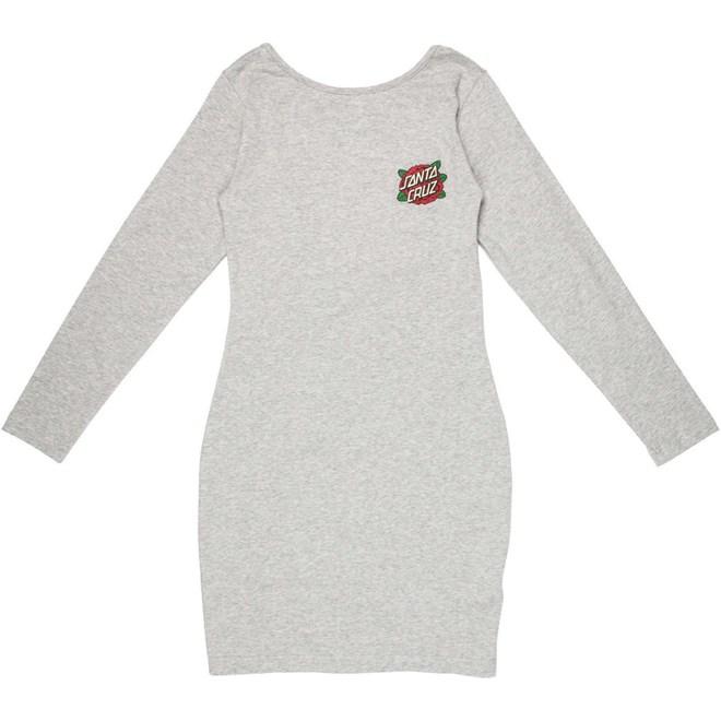 šaty SANTA CRUZ - Rose Dot LS Dress Grey Heather (GREY HEATHER)
