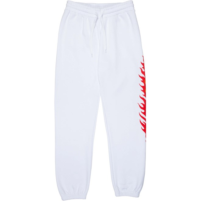 tepláky SANTA CRUZ - Flame Dot Sweatpant White (WHITE)