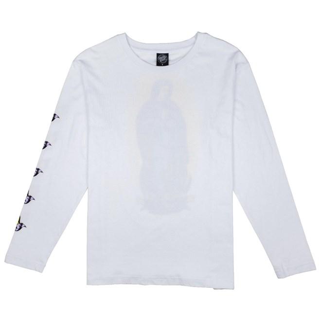 koszulka SANTA CRUZ - Guadalupe Colour L/S Tee White (WHITE)