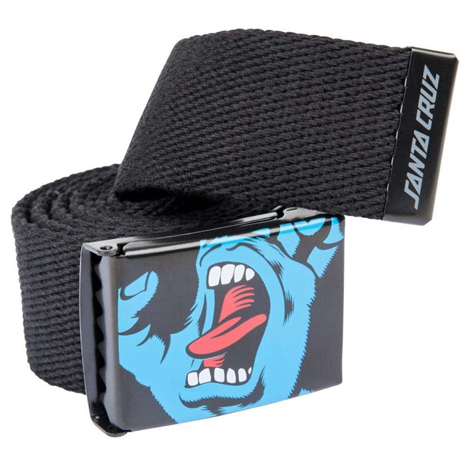 pásek SANTA CRUZ - Screaming Hand Belt Black (BLACK)