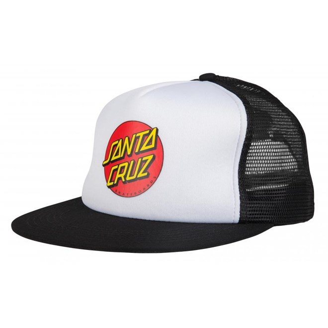 kšiltovka SANTA CRUZ - Classic Dot Mesh Cap White/Black (WHITE-BLACK)