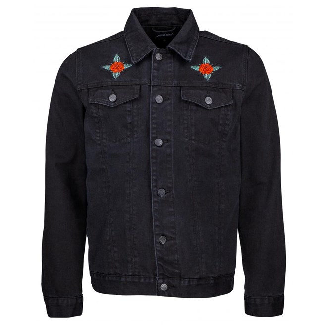 bunda SANTA CRUZ - Dressen Rose Kit Jacket Black Denim (BLACK DENIM)
