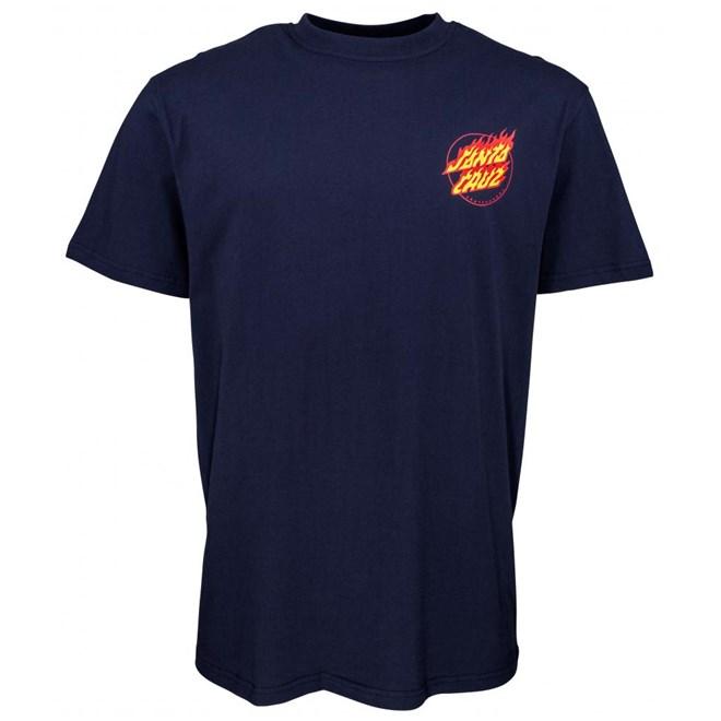 koszulka SANTA CRUZ - Flame Hand Tee Dark Navy (DARK NAVY)