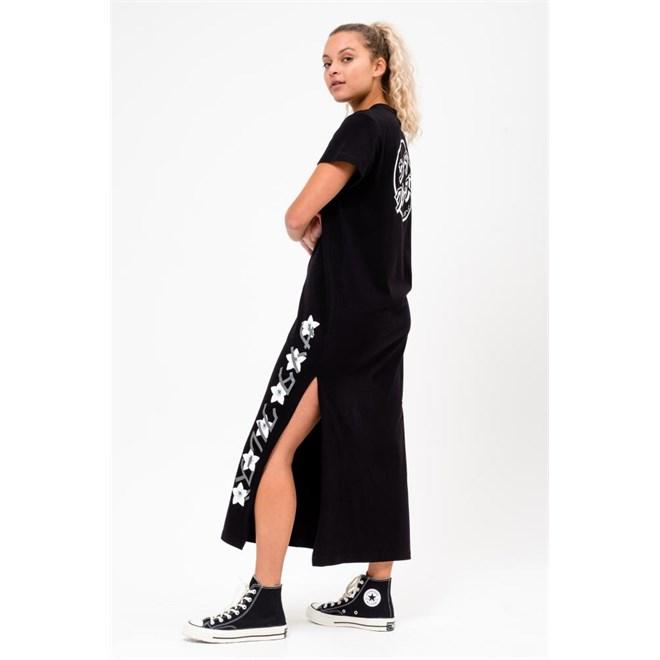 šaty SANTA CRUZ - Japanese Blossom Dress Black (BLACK)