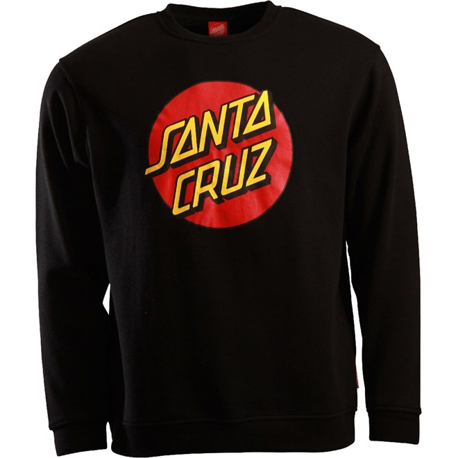bluza SANTA CRUZ - Classic Dot Black (BLACK)