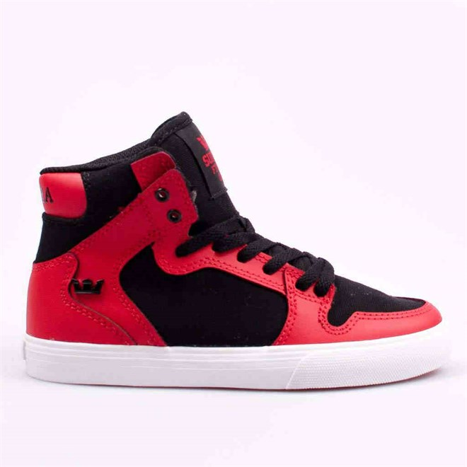 boty SUPRA - Kids Vaider Red/Black-White (RBK)