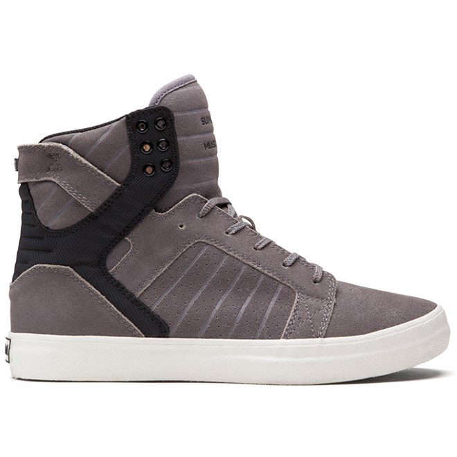 boty SUPRA - Skytop High Grey/Black (GBW)