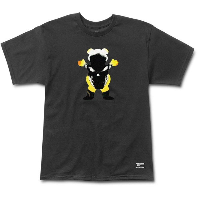 triko GRIZZLY - Grizzly X Ghost Rider Black (BLACK)