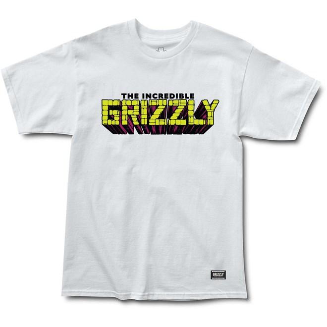 triko GRIZZLY - Grizzly X Hulk Brick White (WHITE)