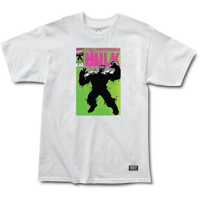 Tshirt GRIZZLY - Grizzly X Hulk Cover White (WHITE)