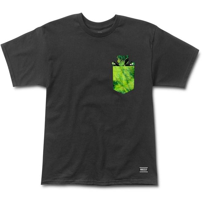 triko GRIZZLY - Grizzly X Hulk Pocket Black (BLACK)