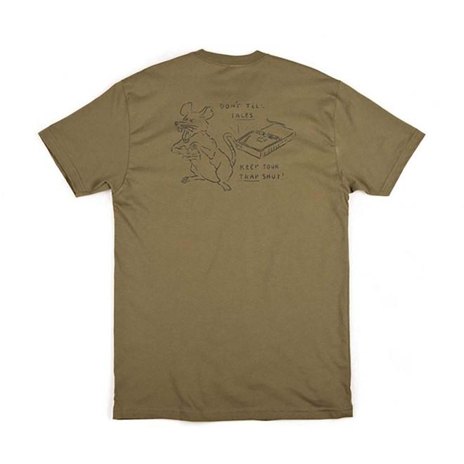 triko BRIXTON - Snitch S/S Pkt Tee Dusty Olive (DYOLI)