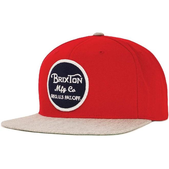kšiltovka BRIXTON - Wheeler Red/Light Heather Grey (0751)