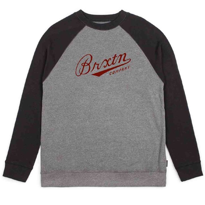 triko BRIXTON - Fenway Heather Grey/Black (0335)