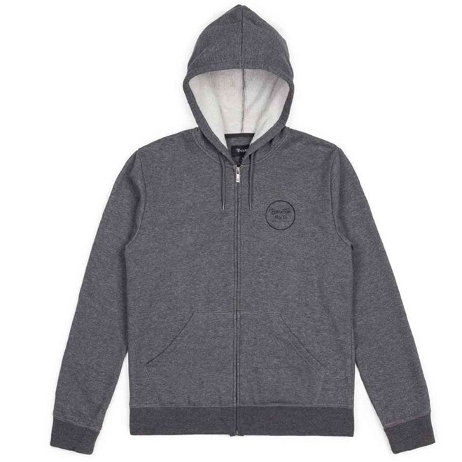 mikina BRIXTON - Wheeler Charcoal Heather (0340)