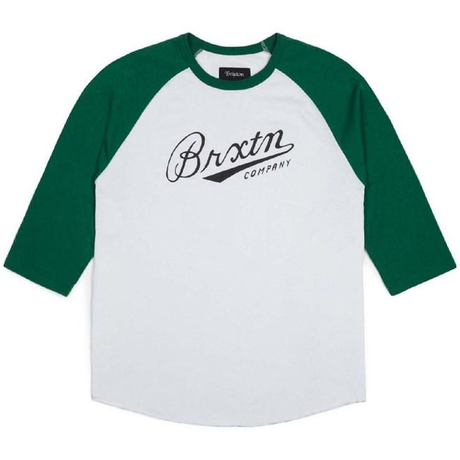 triko BRIXTON - Fenway White/Green (0204)