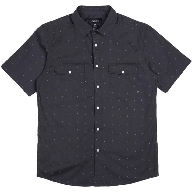 košile BRIXTON - Wayne Washed Black 0141 (0141)