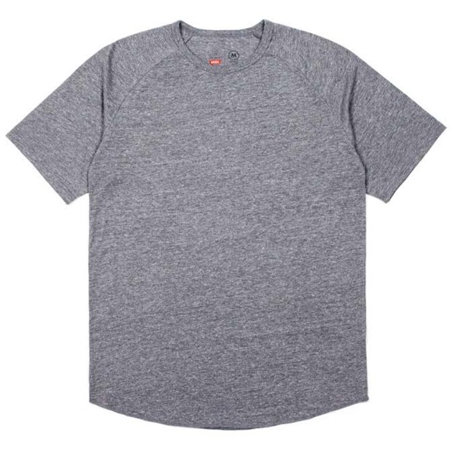 triko BRIXTON - Basic Baseball Heather Grey (HTGRY)