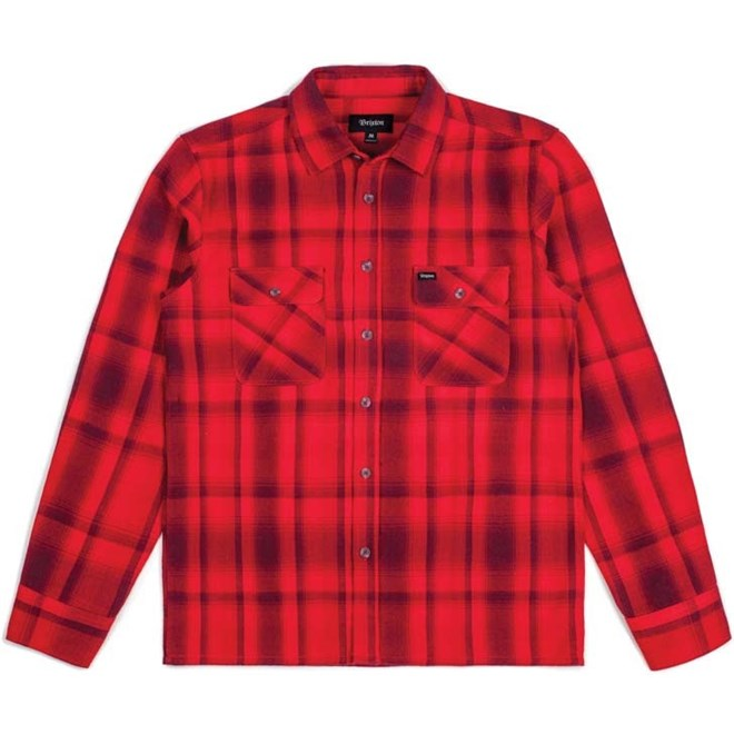 košile BRIXTON - Archie Red/Burgundy (RDBUR)