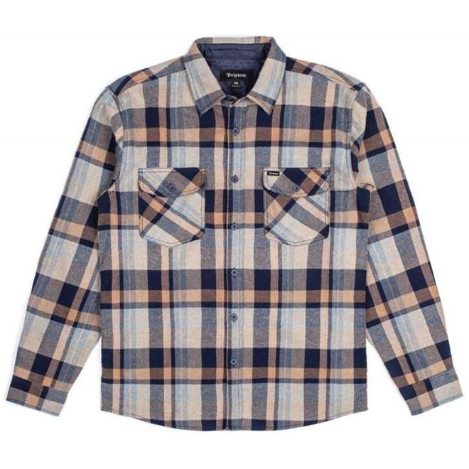košile BRIXTON - Flynn Navy/Khaki (NV/KHK)