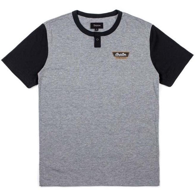 triko BRIXTON - Normandie Heather Grey/Black (HTGBK)