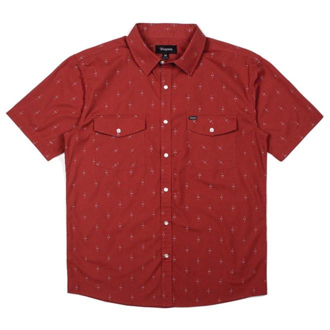 košile BRIXTON - Wayne Brick (BRICK)