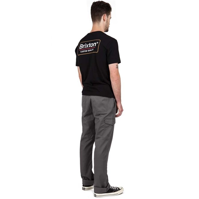 kalhoty BRIXTON - Fleet Cargo Pant Charcoal (CHARC)
