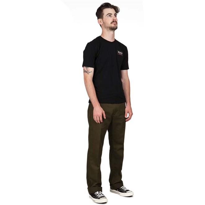 kalhoty BRIXTON - Fleet Lw Rgd Chino Pant Olive (OLIVE)